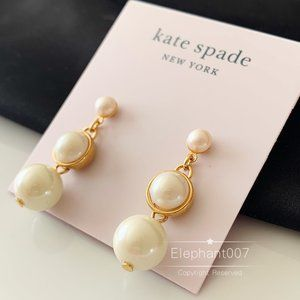 Kate Spade earrings gold pearl earrings